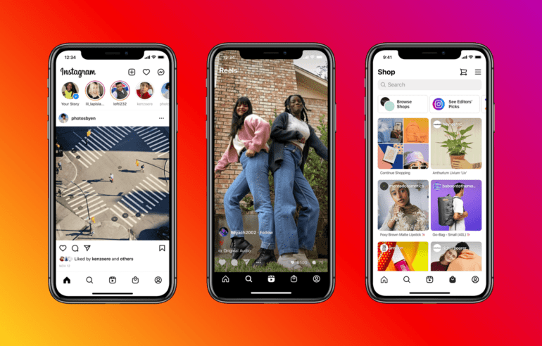Instagram adds a reels and store tab