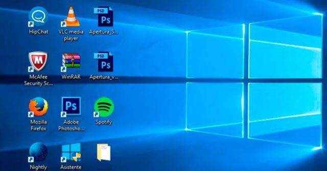 Solución: no puedo mover los iconos del escritorio en Windows 10