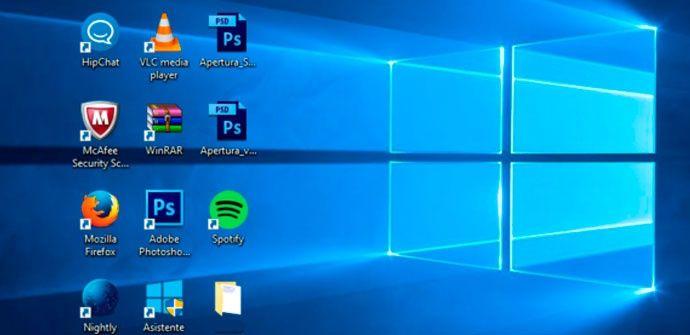 No puedo mover los iconos del escritorio en Windows 10