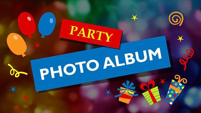 Create a photo album of different parties in PowerPoint