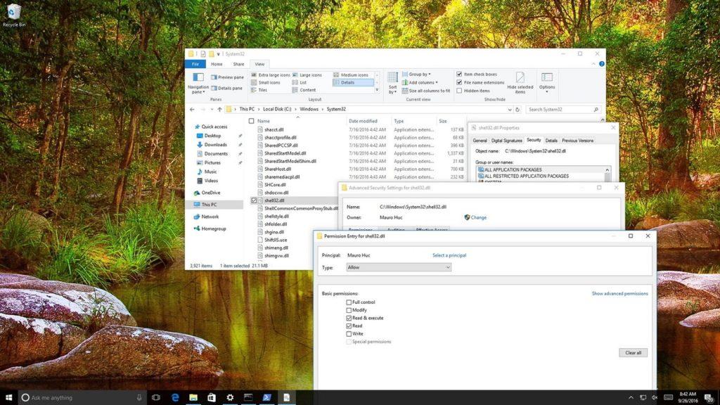 Cambiar permisos archivos Windows 2