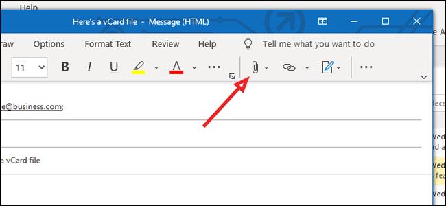 Comment envoyer une vCard par e-mail