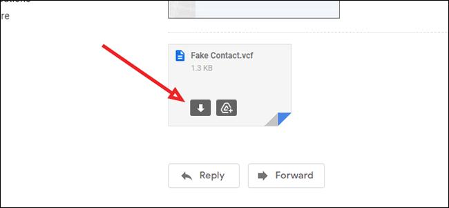 Comment importer une vCard depuis Gmail