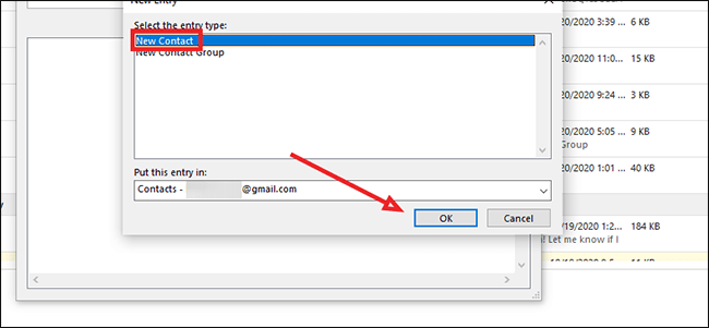 Comment créer une vCard dans Outlook