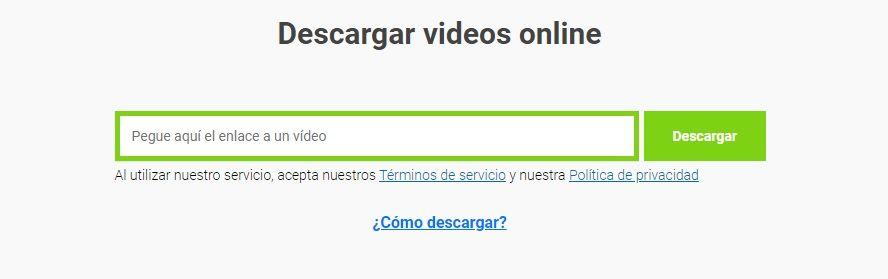 descargar vídeos en linea