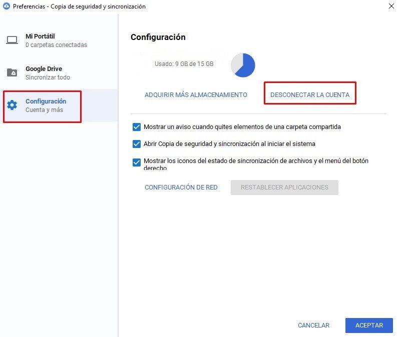 Modificar la ubicación de la carpeta Google Drive en Windows 10