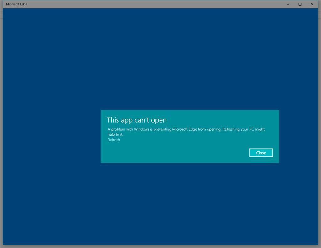 Microsoft Edge no abre 2