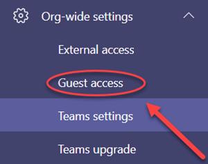 Ingresar al apartado de acceso de invitado