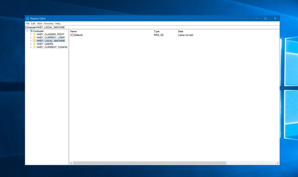 acelerar Windows 10 Regedit 1,5