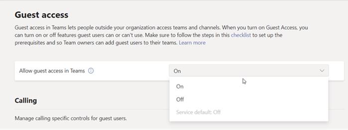 Activar o desactivar el acceso de invitado en Teams