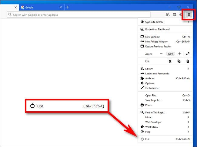 How to close all windows at once in Firefox