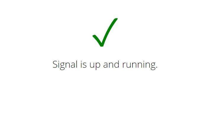 Cómo saber si Signal está caído