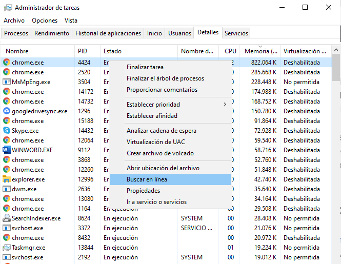 Cómo detectar malware en Windows 10