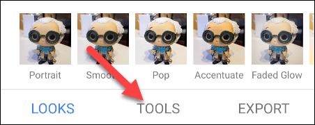 Presionar en herramientas o tools
