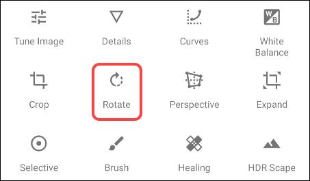 Elegir la herramienta rotar