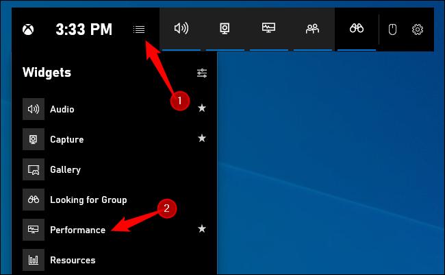 Comment activer le widget de performance dans Windows 10