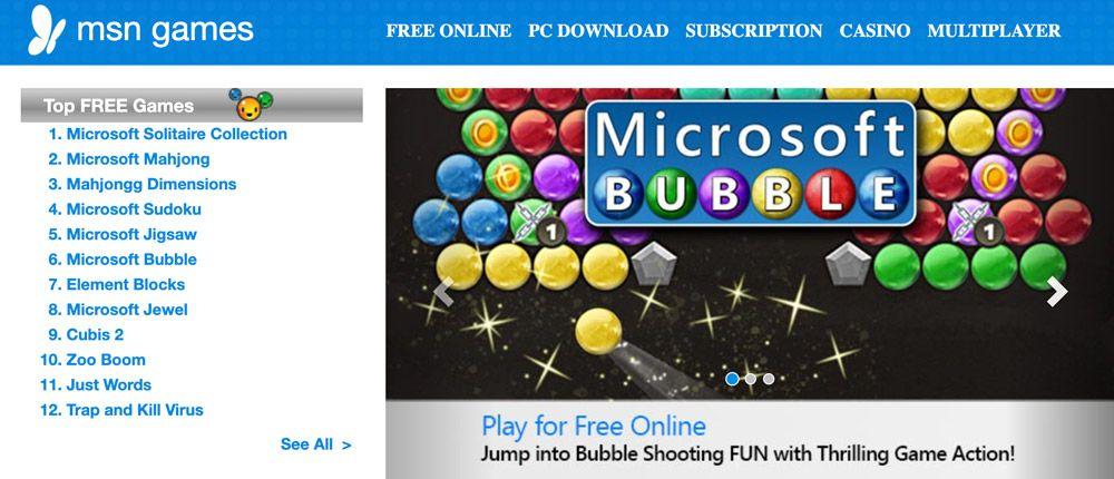 Los 5 mejores juegos gratuitos de MSN para jugar en línea