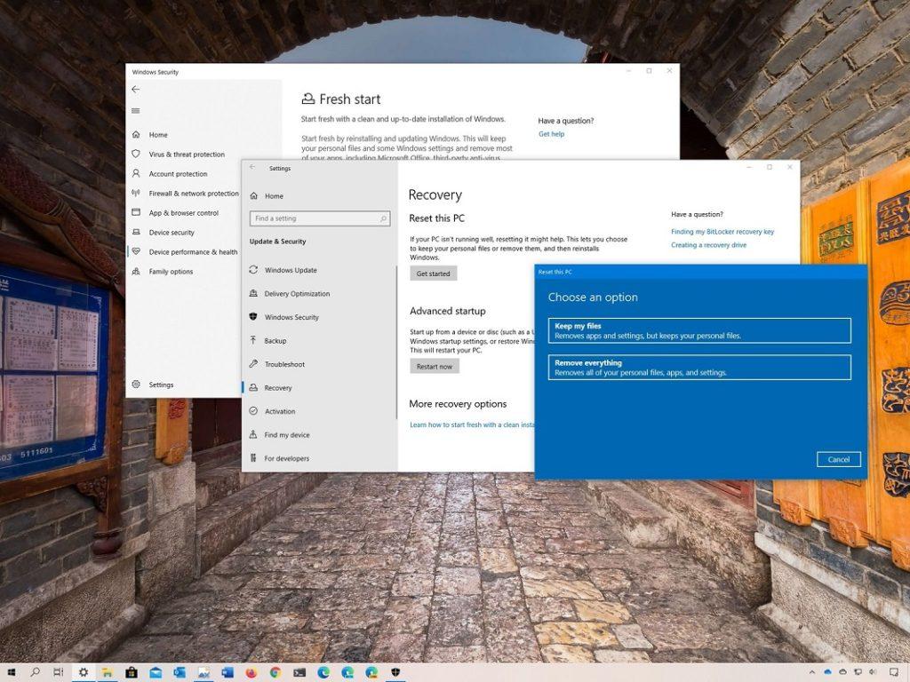 restaurar configuración predeterminada Office 2