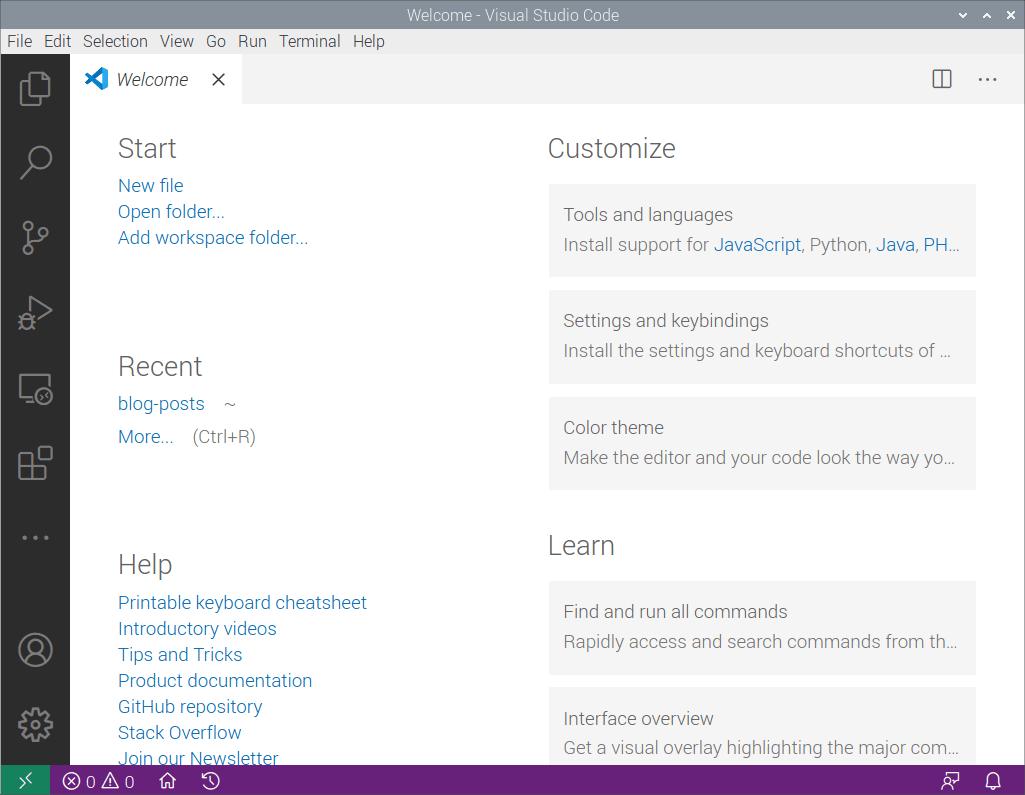 Raspberry Pi Visual Studio Code 2