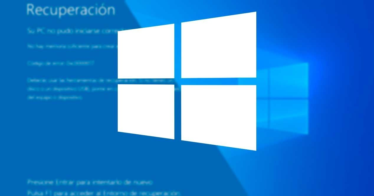 error actualización Windows 0xC190020c, 0xC190020d, 0xC190020e o 0xC190020f
