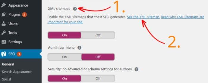Activate sitemap in WordPress Yoast SEO