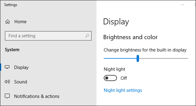 Adjust brightness automatically