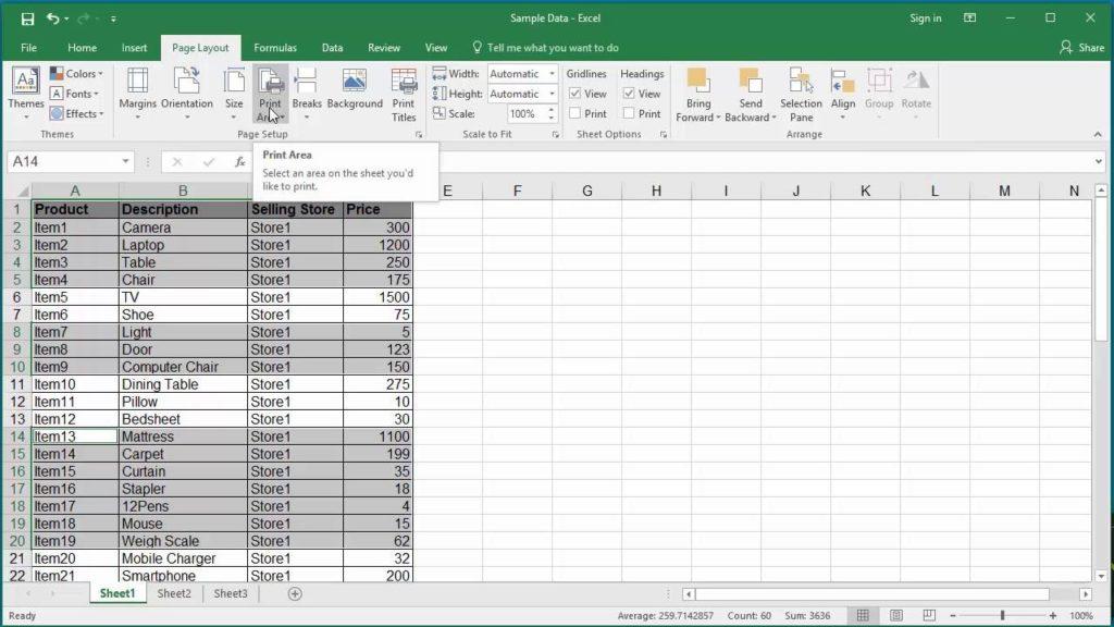 alinear páginas impresas Excel 1,5