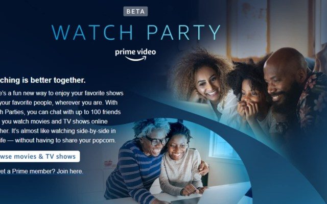 Cómo usar Watch Party en Amazon Prime Video