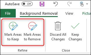 Quitar fondo de forma manual Excel