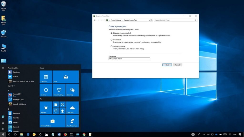 Active Power Plan Windows 10 1,5