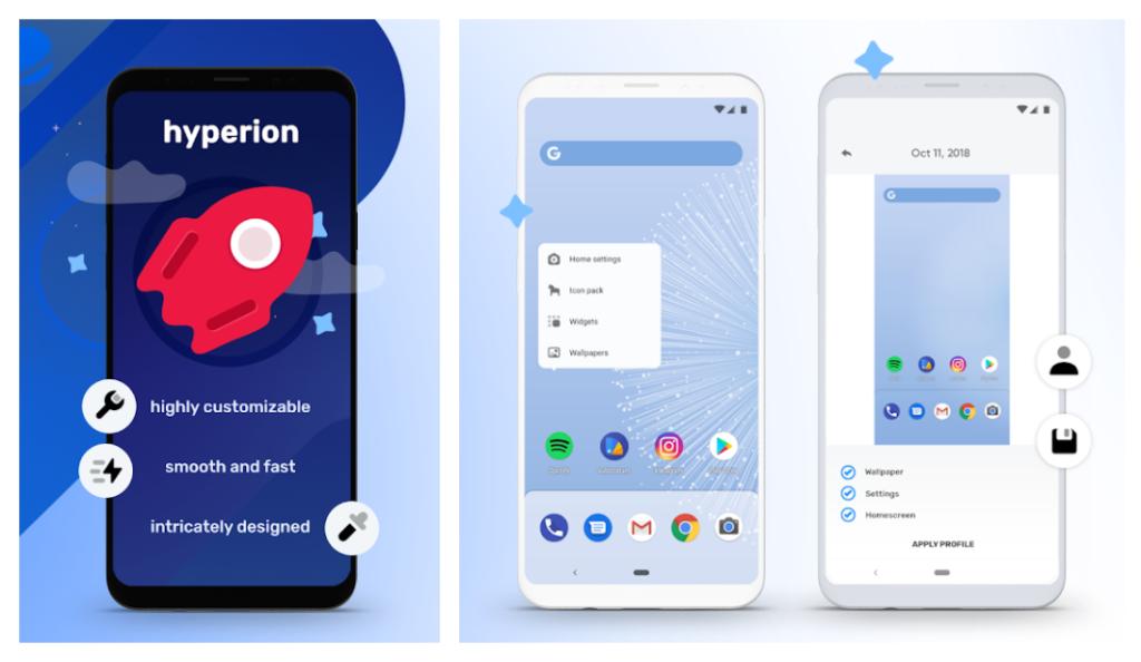 Hyperion es genial para quienes desean un estilo Google Pixel.