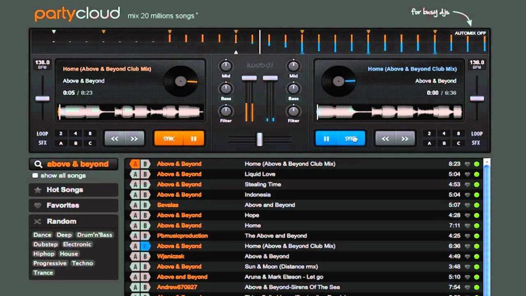 PartyCloud una herramienta de DJ en la nube.
