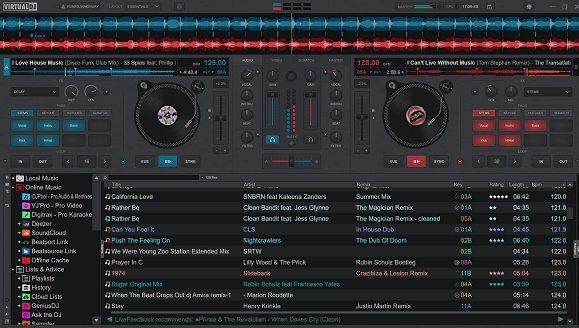 VirtualDJ uno de los mejores programas de DJ gratuitos.