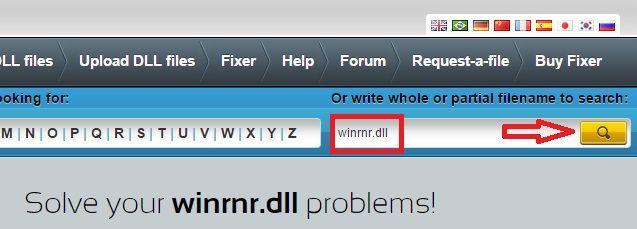 Buscamos el archivo dll en la web de dll-files.