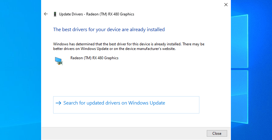 Buscar automáticamente para obtener el software del controlador actualizado