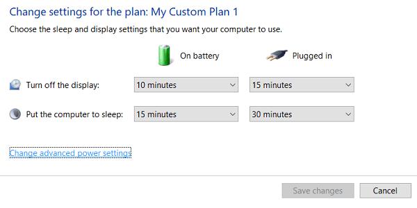 Acceder a la configuración avanzada de la batería.