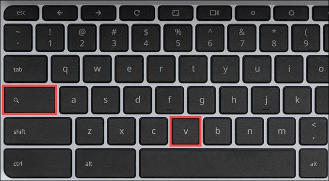 Combinación de teclas para acceder al portapepeles en Chromebook.