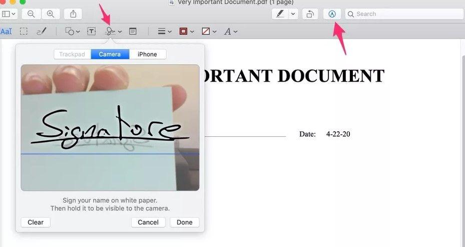 Cómo crear una firma en documentos PDF en Mac