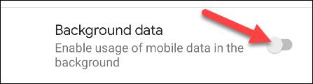 Datos móviles en segundo plano.