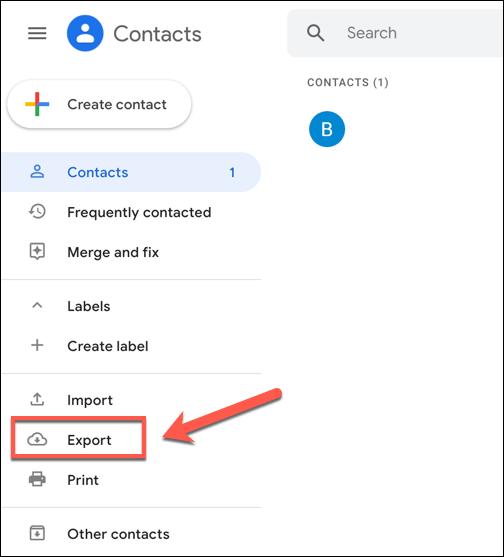 Damos clic en exportar en la barra lateral izquierda.