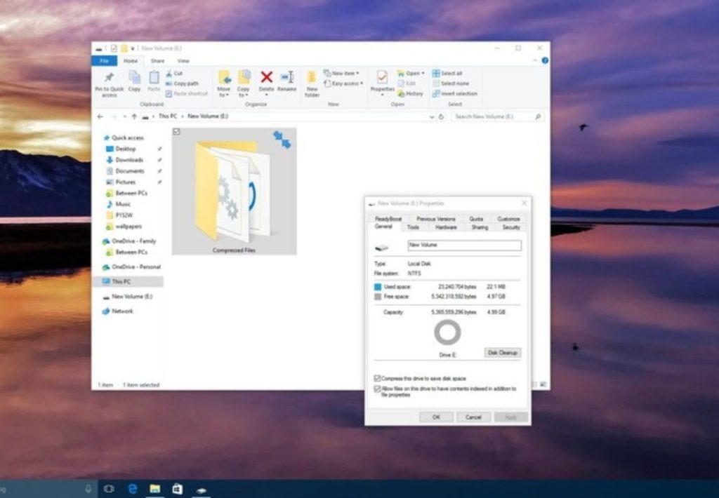habilitar compresión archivos NTFS 2