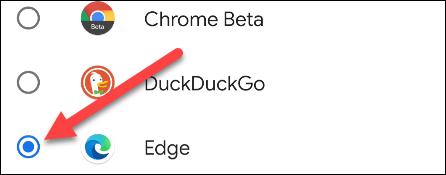 Seleccionamos Microsoft Edge como navegador predeterminado.