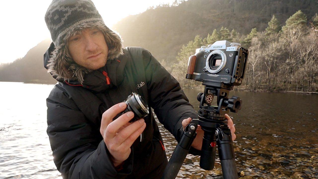 trípode para fotografías de paisajes 1