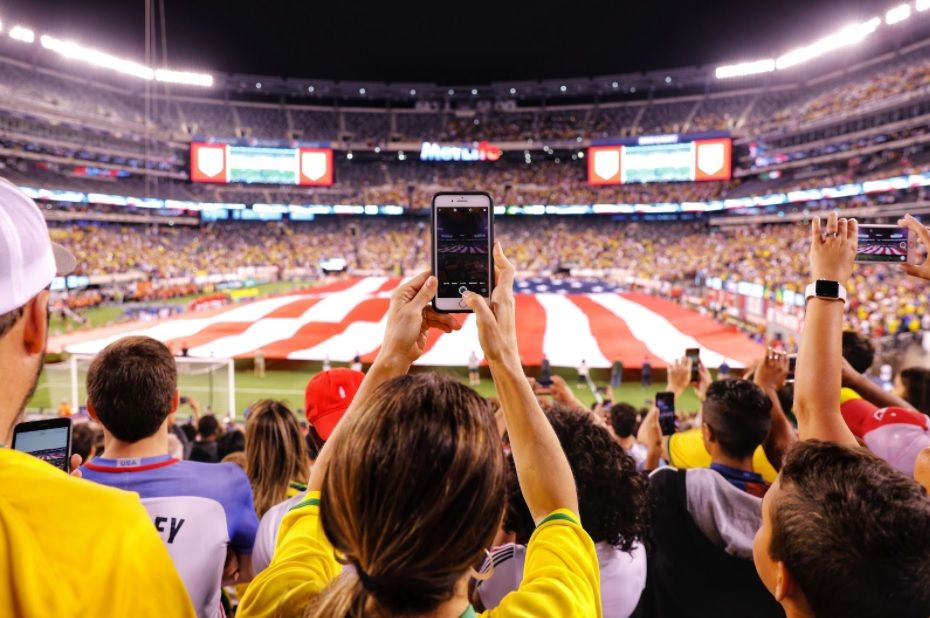 Móvil wireless fútbol