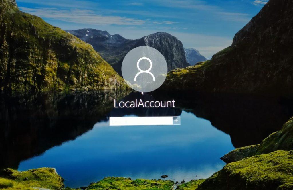 Cuenta local Microsoft 2