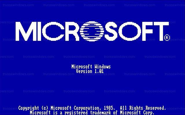 Windows 1.01 una de las peores versiones de Windows.