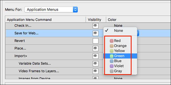 Asignar colores personalizados.