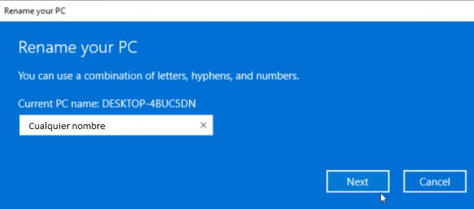 Así es como podemos cambiar el nombre de un ordenador con Windows 10.