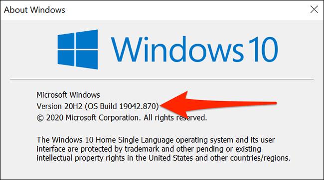 Verificamos la compilación del sistema operativo para poder proceder a restablecer la aplicación configuración de Windows desde PowerShell.