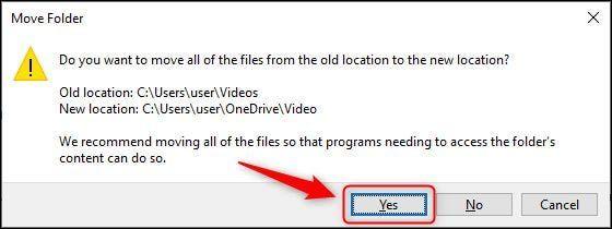 """Damos clic en """"Si"""" y ya hemos logrado configurar todo para crear una copia seguridad automática de una carpeta de Windows en OneDrive"""